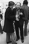 "The artist, Sir Francis Rose at David Hockney pv  ""Recent Etchings"" at the Kasmin Gallery Bond Street London. 1969"