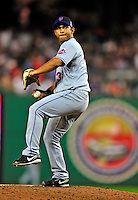 6 June 2009: New York Mets' pitcher Fernando Nieve on the mound in relief against the Washington Nationals at Nationals Park in Washington, DC. The Mets fell to the Nationals 7-1 as Nats' starting pitcher John Lannan tossed his first career complete-game win. Mandatory Credit: Ed Wolfstein Photo