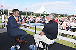 ISPS Handa Wales Open 2013<br /> Celtic Manor Resort<br /> Gareth Edwards and Ryan Jones taking part in a Q&A in the tented village.<br /> 31.08.13<br /> <br /> ©Steve Pope-Sportingwales
