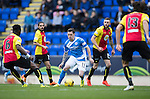 St Johnstone v Partick Thistle…29.10.16..  McDiarmid Park   SPFL<br />Danny Swanson is surrounded by thistle players<br />Picture by Graeme Hart.<br />Copyright Perthshire Picture Agency<br />Tel: 01738 623350  Mobile: 07990 594431