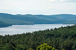 The Quabbin Reservoir as seen in the area that prior to 1937 was the town on Enfield.  The former business district now lies in 90 feet of water.  5 local towns were dismantled and moved to higher ground to make room for this reservoir.  Officials even exhumed and moved the bodies entombed in local cemetaries to the now, Quabbin Cemetery.  The Quabbin reservior provides drinking water to most cities and towns in Eastern Massachusetts.