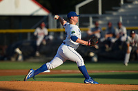 Burlington Royals starting pitcher J.C. Cloney (43) in action against the Danville Braves at Burlington Athletic Stadium on August 12, 2017 in Burlington, North Carolina.  The Braves defeated the Royals 5-3.  (Brian Westerholt/Four Seam Images)