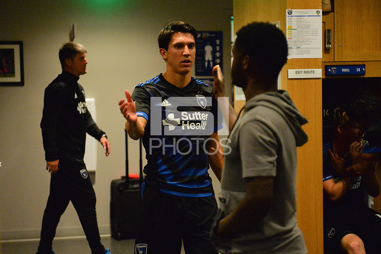 San Jose, CA - Monday July 10, 2017: Shea Salinas after a U.S. Open Cup quarterfinal match between the San Jose Earthquakes and the Los Angeles Galaxy at Avaya Stadium.