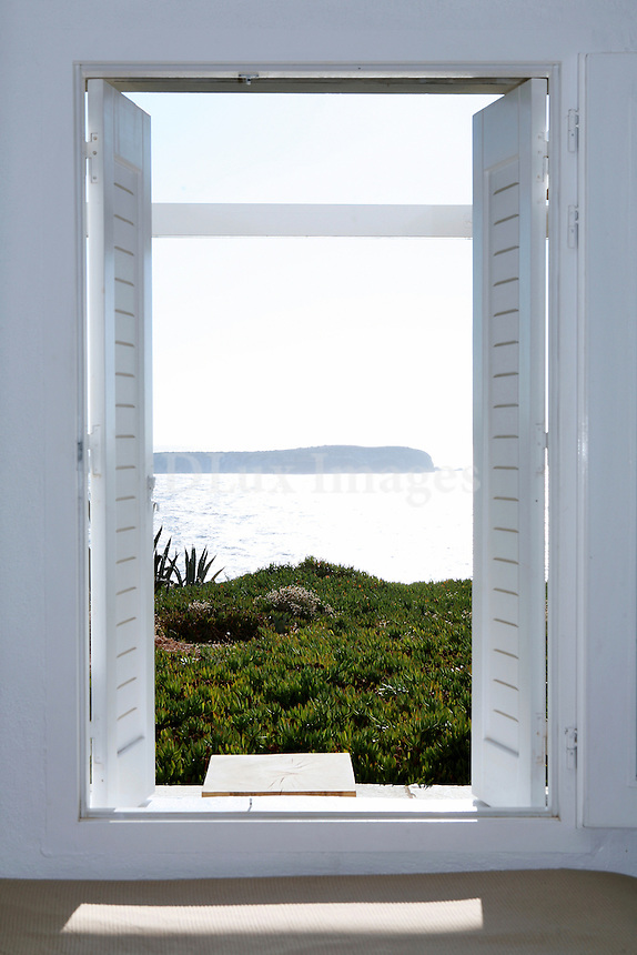 sea view from the open window