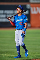 Ismael Alcantara (47) of the Ogden Raptors before the game against the Orem Owlz at Lindquist Field on September 3, 2019 in Ogden, Utah. The Raptors defeated the Owlz 12-0. (Stephen Smith/Four Seam Images)