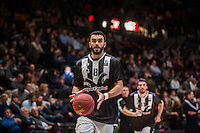 VALENCIA, SPAIN - JANUARY 6: Kostas Kakaroudis during EUROCUP match between Valencia Basket and PAOK Thessaloniki at Fonteta Stadium on January 6, 2015 in Valencia, Spain