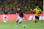 AC Milan Forward Patrick Cutrone (C) in action during the International Champions Cup 2017 match between AC Milan vs Borussia Dortmund at University Town Sports Centre Stadium on July 18, 2017 in Guangzhou, China. Photo by Marcio Rodrigo Machado / Power Sport Images