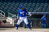 Kansas City Royals catcher Xavier Fernandez (8) at bat during an Instructional League game against the Cincinnati Reds on October 2, 2017 at Surprise Stadium in Surprise, Arizona. (Zachary Lucy/Four Seam Images)