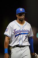 Tennessee Smokies center fielder Wynton Bernard (7) during a game against the Birmingham Barons on August 16, 2018 at Regions FIeld in Birmingham, Alabama.  Tennessee defeated Birmingham 11-1.  (Mike Janes/Four Seam Images)