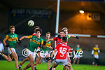 Paudie O'Leary, Kerry Conor Horan, Kerry in action against Eoghan Nash, Cork during the Munster Minor Semi-Final between Kerry and Cork in Austin Stack Park on Tuesday evening.