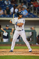 Yasmany Tomas (23) of the Reno Aces bats against the Nashville Sounds at Greater Nevada Field on June 5, 2019 in Reno, Nevada. The Aces defeated the Sounds 3-2. (Stephen Smith/Four Seam Images)