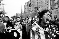 Voicing dissent at the 2005 counter-inauguration protest in Washington, DC