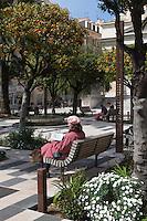 Europe/France/Provence-Alpes-Côte d'Azur/Alpes-Maritimes/Nice: Promenade du Paillon et Eglise Saint Jean-Baptiste - le Voeu //   Europe, France, Provence-Alpes-Côte d'Azur, Alpes-Maritimes, Nice: Promenade du Paillon and Church of Saint-Jean-Baptiste