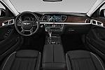 Stock photo of straight dashboard view of 2017 Genesis G80 3.8-AWD 4 Door Sedan Dashboard