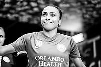Orlando, FL - Saturday August 25, 2018:  Marta, Orlando Pride vs Chicago Red Stars at Orlando City Stadium.
