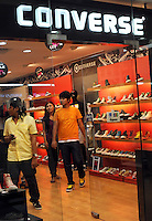 CONVERSE shop at a big modern shopping mall in Madras, India