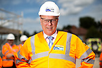 © Joel Goodman - 07973 332324 . 05/08/2016 . Cheshire , UK . CHRIS GRAYLING visits the A6 relief road construction site , near to Manchester Airport , on his first visit to the North West since he was appointed Transport Secretary . Photo credit : Joel Goodman