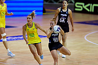 Samantha Winders in action during the Constellation Cup international netball series match between New Zealand Silver Ferns and Australian Diamonds at Christchurch Arena in Christchurch, New Zealand on Tuesday, 2 March 2021. Photo: Martin Hunter / lintottphoto.co.nz
