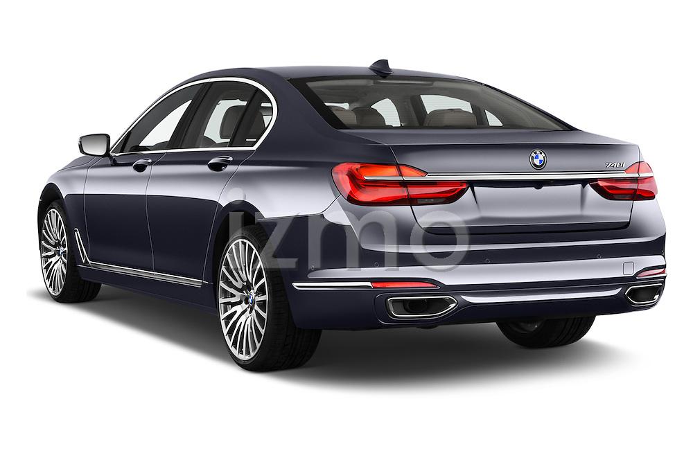 Car pictures of rear three quarter view of 2016 BMW 7 Series 740i 4 Door Sedan Angular Rear