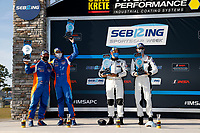 #24 Sean Creech Motorsport Ligier JS P3, P3-2: Francesco Melandri, Nigel Greensall <br /> Winner, victory lane<br /> #61: Conquest Racing Norma M30, P3-2: Danny Kok, George Staikos