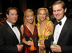 """Andy and Kristy Becnel with Catherine and George Masterson  at  the """"Wrecking Ball"""" at the Houston Museum of Natural Science Saturday  March 07, 2009. (Dave Rossman/For the Chronicle)"""