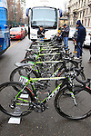 Team Argos-Shimano Felt bikes lined up at the start of the 104th edition of the Milan-San Remo cycle race at Castello Sforzesco in Milan, 17th March 2013 (Photo by Eoin Clarke 2013)