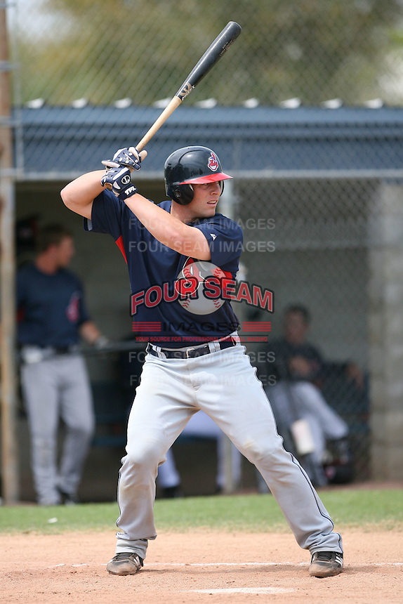 March 20th 2008:  Chris Gimenez of the Cleveland Indians minor league system during Spring Training at Chain of Lakes Training Complex in Winter Haven, FL.  Photo by:  Mike Janes/Four Seam Images