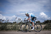 Hamish Schreurs (NZL/Israël Cycling Academy) riding a gravel sector. <br /> <br /> <br /> Antwerp Port Epic 2019 <br /> One Day Race: Antwerp > Antwerp 187km<br /> <br /> ©kramon