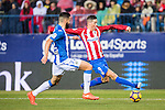 Fernando Torres of Atletico de Madrid battles for the ball with Lluis Sastre Reus of Deportivo Leganes during their La Liga match between Atletico de Madrid and Deportivo Leganes at the Vicente Calderón Stadium on 04 February 2017 in Madrid, Spain. Photo by Diego Gonzalez Souto / Power Sport Images