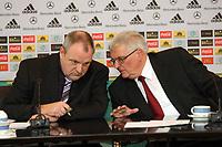 DFB-Praesident Dr. Theo Zwanziger mit Mediendirektor Harald Stenger<br /> DFB-Pressekonferenz zum Thema Doping<br /> *** Local Caption *** Foto ist honorarpflichtig! zzgl. gesetzl. MwSt. Auf Anfrage in hoeherer Qualitaet/Aufloesung. Belegexemplar an: Marc Schueler, Am Ziegelfalltor 4, 64625 Bensheim, Tel. +49 (0) 151 11 65 49 88, www.gameday-mediaservices.de. Email: marc.schueler@gameday-mediaservices.de, Bankverbindung: Volksbank Bergstrasse, Kto.: 151297, BLZ: 50960101