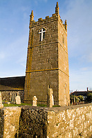 St Sennen Church founded 520 AD, England, Cornwall