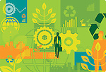 Illustrative image of go green concept