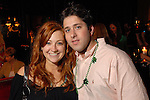 Stacy Soefer and Daniel Slaton at the St. Patrick's Day party at the Hotel ZaZa Monday March 17,2008.(Dave Rossman/For the Chronicle)