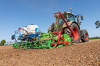 Cultivating ahead of  potato planting - Lincolnshire, April