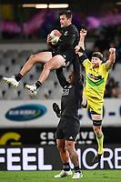 22nd May 2021; Eden Park, Auckland New Zealand; All Blacks Sevens versus Australia, Trans-Tasman Sevens;  Andrew Knewstubb (nzl) takes the high ball