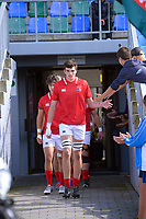 Jamie Hannah leads the Barbarians out for the 2021 Bunnings Super Rugby Aotearoa Under-20 rugby match between the Barbarians and Blues at Owen Delaney Park in Taupo, New Zealand on Tuesday, 14 April 2020. Photo: Dave Lintott / lintottphoto.co.nz