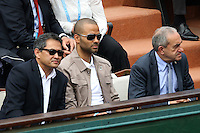 Tony Parker seen watching tennis during Roland Garros tennis open 2016 on may 26 2016.