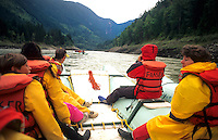 Whitewater rafting adventure on the Fraser River , British Columbia, Canada