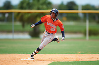 GCL Astros left fielder Jose Benjamin (56) running the bases during a game against the GCL Nationals on August 14, 2016 at the Carl Barger Baseball Complex in Viera, Florida.  GCL Nationals defeated GCL Astros 8-6.  (Mike Janes/Four Seam Images)