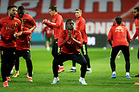 24th March 2021; Leuven, Belgium; Michy Batshuayi of Belgium warms up during the World Cup Qatar 2022 Qualifiers Match between Belgium and Wales on March 24, 2021 in Leuven, Belgium