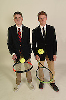 NWA Democrat-Gazette/MICHAEL WOODS • @NWAMICHAELW<br /> Boys Doubles Team of the Year, Payne Henry (left) and Moss Matthews of Rogers High, Thursday, November 19, 2016.