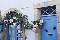 """Europe/France/Bretagne/29/Finistère/Douarnenez: Détail d'une maison  du vieux Douarnenez sur le """"Chemin de la Sardine"""""""