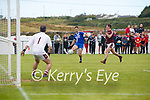 St MArys Bryan Sheehan shoots this across the Dromid goal mouth to set up the Mayr's first goal.