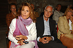 SERGIO BARBANTI CON LA MOGLIE LETIZIA MARAINI <br /> PREMIO LETTERARIO CAPALBIO 2003