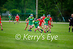 Kerry's Sara Murphy in possession as she clears another Cork attack in the Munster Junior Camogie semi final.