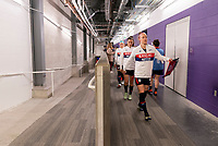 ORLANDO, FL - FEBRUARY 24: Becky Sauerbrunn #4 of the USWNT leaves the locker room before a game between Argentina and USWNT at Exploria Stadium on February 24, 2021 in Orlando, Florida.