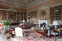 The large library, the painted panels above the fireplace and doorways were painted by Charles Reuben Riley in the 1770s
