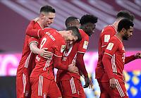 06.03.2021, Fussball 1. Bundesliga 2020/2021, 24. Spieltag, FC Bayern München - Borussia Dortmund, in der Allianz-Arena München. Jubel Torschütze Robert Lewandowski (2vl., Bayern München) zund seine Teamkollegen um Tor zum 4:2<br /> <br /> Foto: Bernd Feil/M.i.S./Pool<br /> <br /> Nur für journalistische Zwecke! Only for editorial use! <br /> DFL regulations prohibit any use of photographs as image sequences and/or quasi-video.    <br /> National and international NewsAgencies OUT. <br /> Bundesliga 2020/2021 <br /> photo Imago/Insidefoto <br /> ITALY ONLY