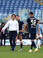 Football, Serie A: S.S. Lazio - Juventus Olympic stadium, Rome, November 8, 2020. <br /> Lazio's coach Simone Inzaghi (l) greets Juventu's players at the end of the Italian Serie A football match between Lazio and Juventus at Olympic stadium in Rome, on November 8, 2020.<br /> The result of the match is 1-1.<br /> UPDATE IMAGES PRESS/Isabella Bonotto