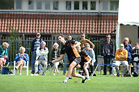 KAATSEN: LEEUWARDEN: 05-07-2020, Gert-Anne van der Bos, Taeke Triemstra en Tjisse Steenstra winnen de officieuze kick-off van het kaatsseizoen  bij LKC Sonnenborgh, ©foto Martin de Jong
